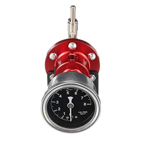 Arlt Universal Ajustable Aluminio Regulador de presión de presión de presión Kit de herramientas de manómetro (Color : Red)