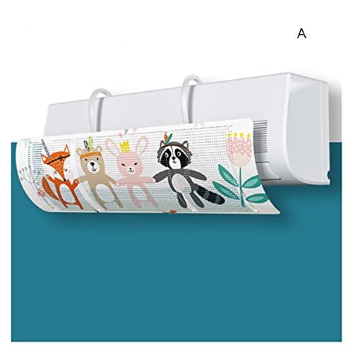 Ming Ming Aria condizionata Regolabile Copertura del Vento Deflettore del Parabrezza Strumenti del condizionatore d' Aria Air Baffle Shield Accessori per Ufficio (Color : A)