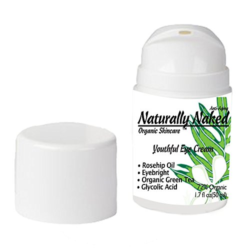 Youthful Eye Cream, 1.7 oz (50 ml), Best Eye Firming and Moisturizing Cream, helps with Dark Circles, Puffiness, Crepey Skin Restores Firmness, Maintain Youthful Skin. Eye Cream, 72% Organic, Kosher
