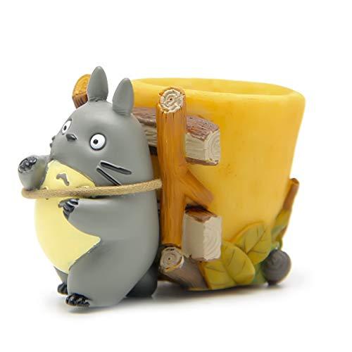 EASTVAPS Juguete Hayao Miyazaki 788125231201 Mi Vecino Mini Totoro Figura Anime PVC Figura de acción con Carro pequeño