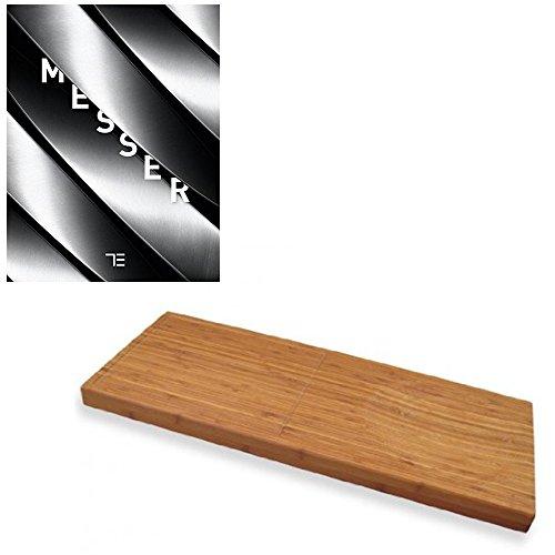 TEUBNER Messer + Schneidbrett Tropic Board Grande 68 x 28 x 4,0 cm