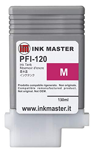 Ink Master - Cartuccia rigenerata CANON PFI-120 MAGENTA per Canon IPF TM-200 TM-205 TM-300 TM-305