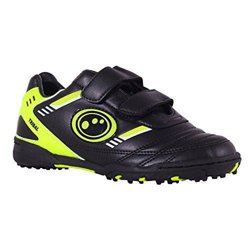 Optimum Boy s Tribal Astro Football Boots, Black Fluro Yellow, 9 UK Child