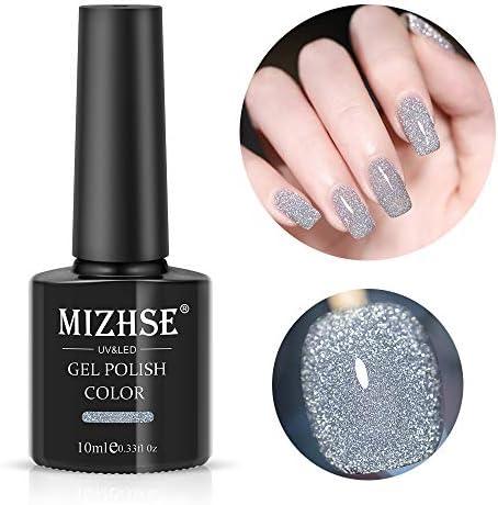 MIZHSE Diamond Gel Nail Reflective Sparkling Nail Polish Bright Glitter Bungee Soak Off UV Nail product image