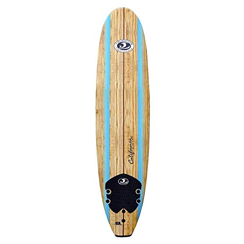 "Mesa Softboard Long para principiantes Mini Malibu 8 '0 "" Incluidas Soft Fins y Leash"