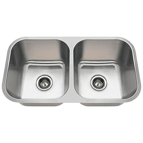 3218A 16-Gauge Undermount Equal Double Bowl Stainless Steel Kitchen Sink