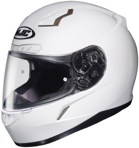 HJC CL-17 Full-Face Motorcycle Helmet (White, 4X-Large)