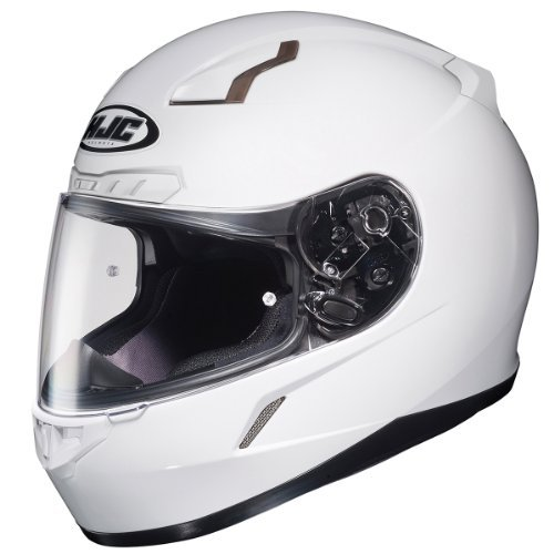 HJC Solid Men's CL-17 Full Face Motorcycle Helmet - White/Large