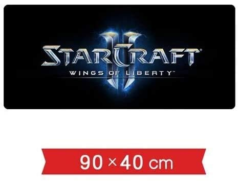 Große Gaming Mouse Pad Starcraft 2-Tastatur Mousepad Icon Starry Hintergrund Stereo Reliefprägung Warte Schnittstelle 900x400mm for Home Office (Color : 2)