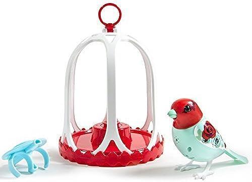 DigiBirds - Bird with Bird Cage - Rosa by Digi Birds
