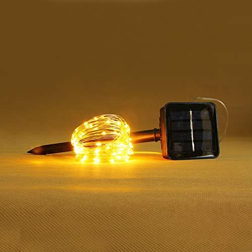 Lichtketting, feen, werkt op batterijen, op zonne-energie, koperdraad, solar, 6 m, 60 licht, vier kleuren