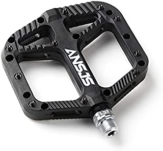 MDEAN MTB Pedals Mountain Bike Pedals Lightweight Nylon Fiber Bicycle Platform Pedals for BMX MTB 9/16
