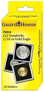 Guardhouse Tetra Snap Lock 2x2 1/10 oz AGE Coin Holder 10 Pack