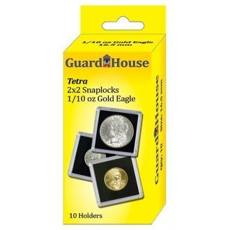 Guardhouse Tetra Snap Lock 2×2 1/10 oz AGE Coin Holder 10 Pack
