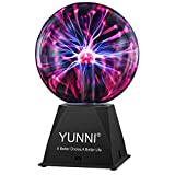 Plasma Ball, YUNNI 7 Inch Plasma Globe Lamp with Touch & Sound Sensitive, Nebula Sphere Orb Light as Gift or Decor, Magic Static Electricity Toy for Kids