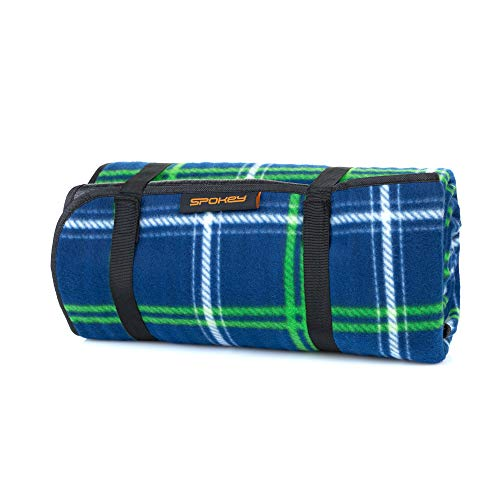 Spokey Picnic Tartana Picknickdecke B150xH180 cm 530 g, wasserdicht / 100% Fleece-Stranddecke 160 g/m2 | gepolstert mit Schaumstoff und mit Einer isolierenden PEVA-Schicht unterfüttert
