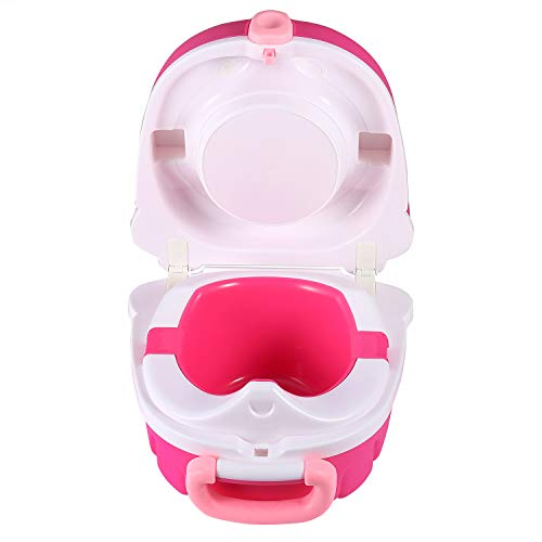 ONEDONE Small Portable Potty for Toddler Travel Outdoor Toilet Squatting Potty for Baby Potty Training (Girl)