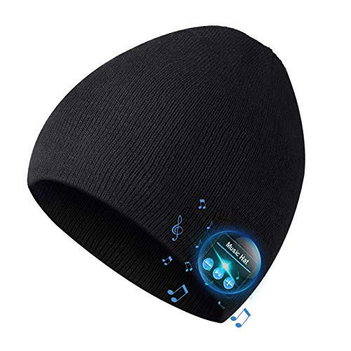 Bluetooth Beanie for Men Bluetooth Hat, Mens Gifts, Women Mens Beanie Hats with Bluetooth Headphones, for Outdoor Sports,Running, Skating, Heartwarming Xmas Gifts for Men Women,Fashion& technology