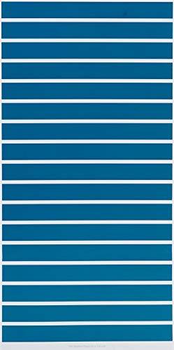 Lichtblick raamfolie zelfklevend, bescherming tegen inkijk, motief strepen petrol, blauw