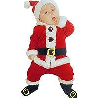 ❤Realizzato in tessuto di alta qualità, non danneggiare la pelle del tuo bambino ❤ Una manica lunga, il design del Babbo Natale, ottimo per il primo natale del bambino ❤Adatta la moda fredda per i bambini da indossare, rendere il tuo bambino così car...