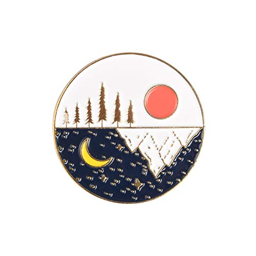 Pin De Esmalte De Noche Estrellada De Montaña Al Aire Libre Personalizado...