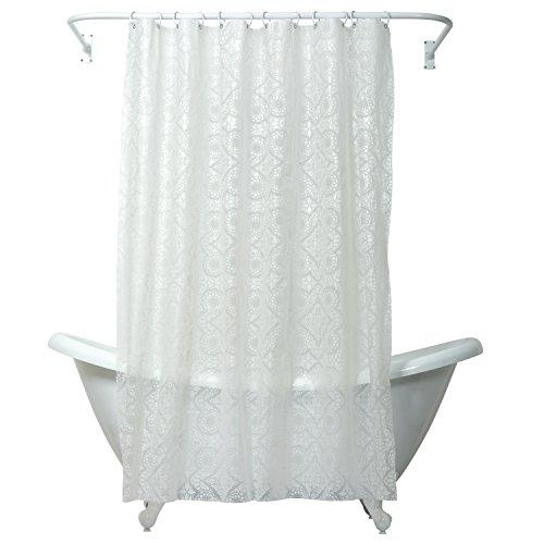 Zenna Home Morocco Peva Shower Curtain, White