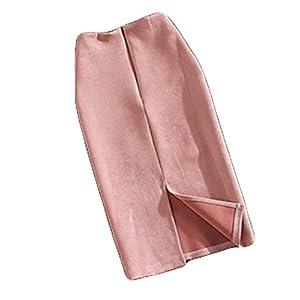 (ビートゥモロー) b-tomorrow レディース タイトスカート オフィス スリット ひざ丈 ロング 人気 スウェード 上品 きれいめ 膝たけ セクシー ペンシル スカート フォーマル カジュアル LSK001 M ピンク