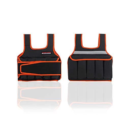 TrainHard 5 kg / 10 kg / 15 kg Verstellbare Gewichtsweste, Trainingsweste für Krafttraining, Laufen, Fitness, Cross Training (5 KG)