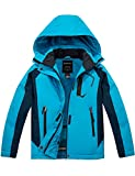 Wantdo Girl's Winter Snowboarding Jacket Hooded Waterproof Sportswear Blue L