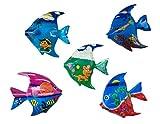 Imanes de pescado – imanes de madera pintados a mano, elementos restantes y segunda elección artículo en juego de decoración, imanes de madera, imanes de animales, decoración de habitación infantil