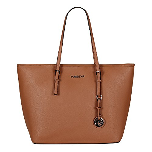 Tom & Eva Damen Tasche 6228F TE-Jet Set Travel Bag Cognac braun