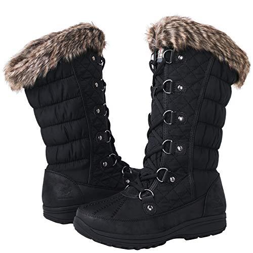 GLOBALWIN Women's 1816 Snow Boots (7.5 M US Women's, 1816Black)