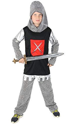 Foxxeo Ritterkostüm für Jungen Ritterrüstung Kinder Ritter Kostüm Größe 98-104