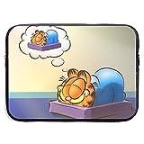 Maletín para portátil Cartoon Roles Garfield Laptop Bag 15 Inch Sleeve Case Neoprene Protective Case/Notebook Computer Pocket Case/Tablet Briefcase Carrying Bag Compatible/Soft Carrying Zipper Bag