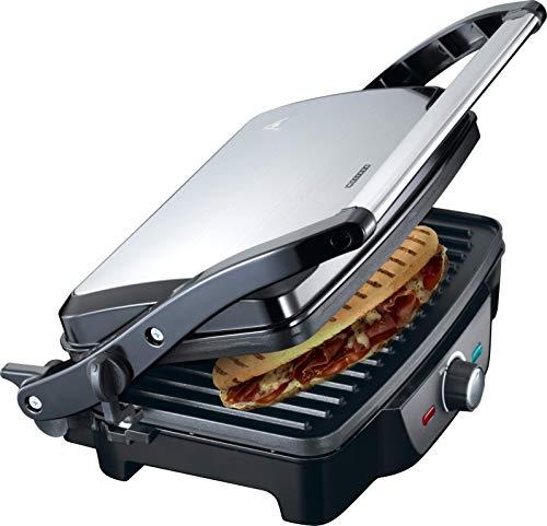 MELISSA 16240108 Kontaktgrill vollständig aufklappbar Power Für Toast, Snacks oder...