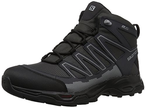Salomon Men's Pathfinder Mid ClimaSheild Waterproof Hiking Boots, Magnet/Phantom/Monument, 9.5 M US