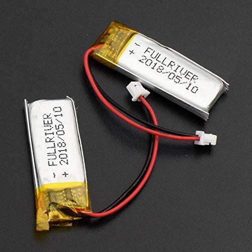 TTCPUYSA 3.7v 130mah 501230 Li Po Batteria al Litio, Ricaricabile Mp3 Mp4 GPS Telecomandi Fotocamera Lampade LED 2pieces