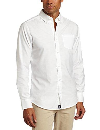 Lee Uniforms Men's Long Sleeve Oxford Shirt, White, X-Large