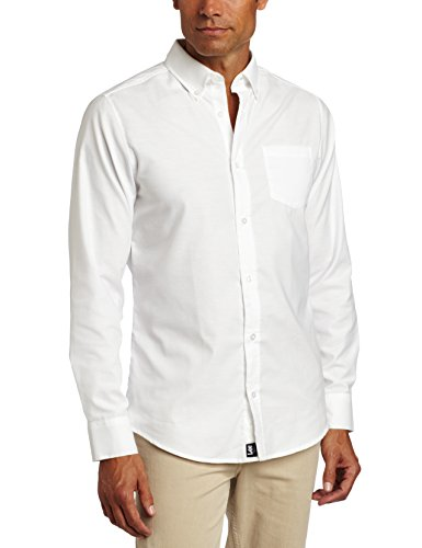Lee Uniforms Men's Long Sleeve Oxford Shirt, White, X-Large