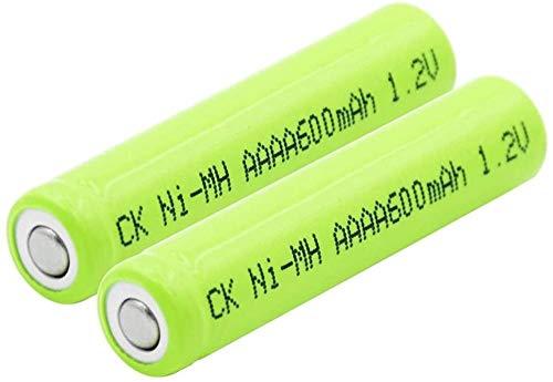 Baterías Ni-Mh De 1,2 V 600 Mah Recargables AAAA Am6 Lr61 para Mini Ventilador con Linterna Led para Reloj Despertador 2 Uds