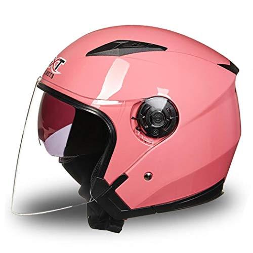 OLEEKA Casco da moto a doppia lente Casco integrale Visiera parasole Leggero ABS Moto Touring Sport