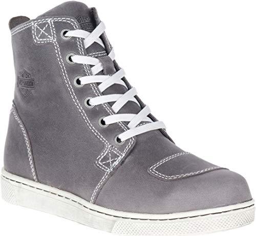 HARLEY-DAVIDSON FOOTWEAR Women's Kearns Motorcycle Boot, Grey, 7