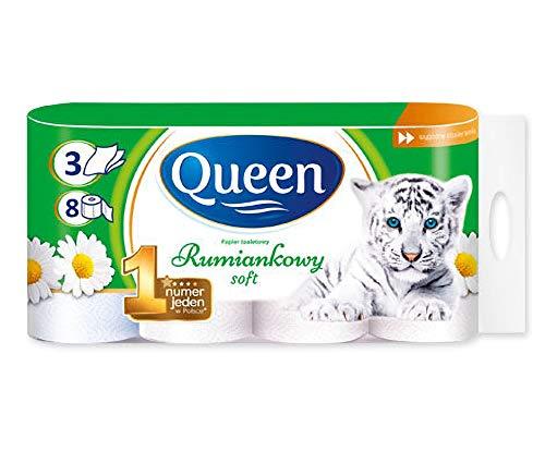 8 Rollen 3-lagig Queen Kamille Duft Toilettenpapier 150 Blatt Klopapier WC