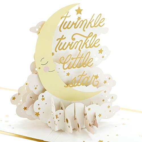 Hallmark Signature Paper Wonder Pop Up Baby Shower Card (Twinkle Twinkle) (1299RZW1073)