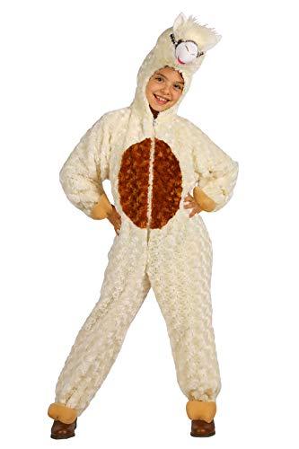 narrenkiste T3334-98-104 Ecru-beige - Disfraz infantil de alpaca (tallas 98-104)
