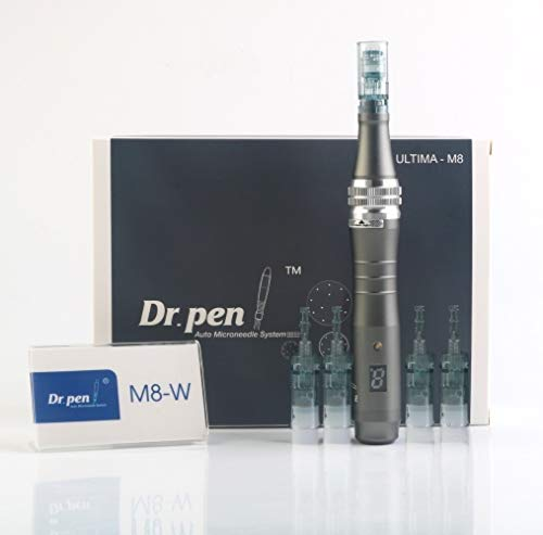 Dr.Pen M8 Original Microneedling Pen - Latest Wireless Model - Great Auto Tool for Home Skin Care - Face/Neck - Includes: 2x 16-PIN CARTRIDGES + 2x 36-PIN CARTRIDGES, From Dr.Pen