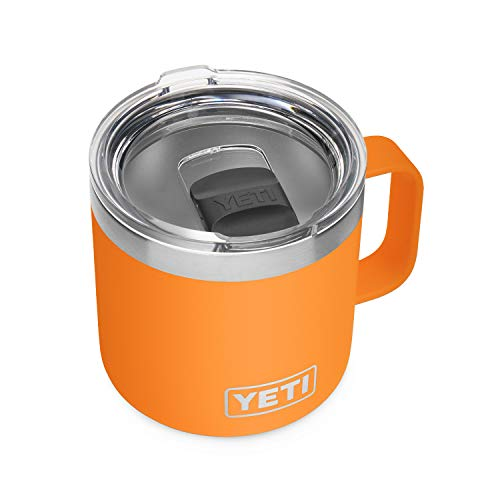 YETI Rambler 14 oz Mug, Vacuum Insulated, Stainless Steel with MagSlider Lid, King Crab