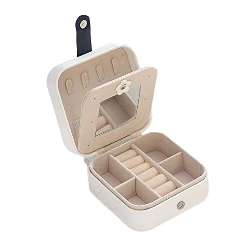 Aexle Caja de almacenamiento para pendientes y pendientes, de piel