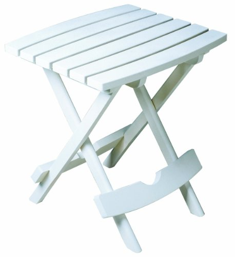 Adams Manufacturing, White 8500-48-3700 Plastic Quik-Fold Side Table