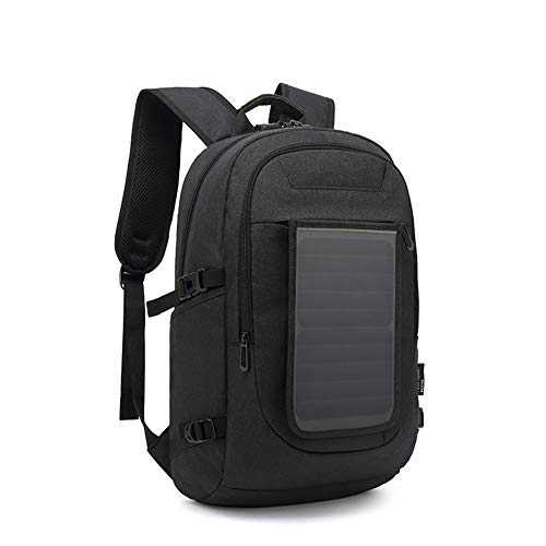 XRQ Solar Backpack Waterproof, Business Laptop Bag Solar Portable Backpack Anti-Theft Charge All Smartphones And Portable USB Devices,C